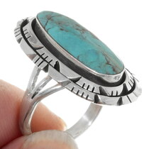 Sterling Silver Navajo Design Turquoise Ring 38039