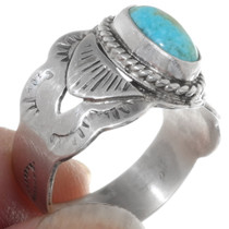 Sterling Silver Kingman Turquoise Ring 38041