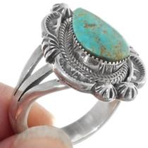 Navajo Irvin Tsosie Turquoise Ring 38042