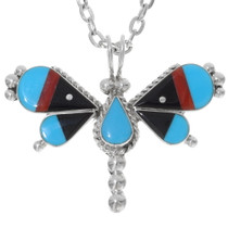 Zuni Turquoise Butterfly Pendant 38046