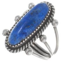 Sterling Silver Denim Lapis Ring 38052