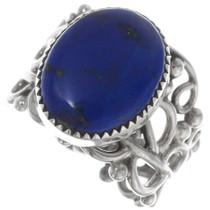 Sterling Silver Lapis Lazuli Ring 38054