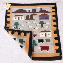 Authentic Navajo Hand Woven Wool Rug 38059