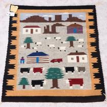 Vintage Navajo Pictorial Rug 38059