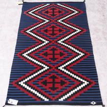 Vintage 1980 Navajo Wool Rug 38061