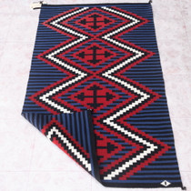 Native American Hand Woven Navajo Chief's Rug 38061