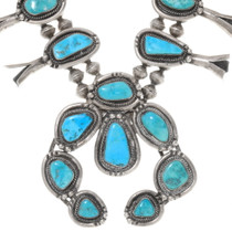 Vintage Natural Turquoise Native American Necklace 38066