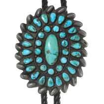 Dead Pawn Zuni Turquoise Bolo Tie 38071