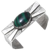 Vintage Navajo Malachite Cuff Bracelet 38078
