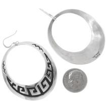Navajo Wave Pattern Sterling Silver Earrings 30078