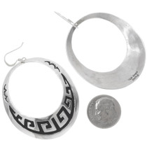Navajo Wave Pattern Sterling Silver Earrings 30078