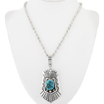 Navajo Rose Singer Overlay Silver Pendant 38088