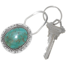 Turquoise Silver Key Ring 24349