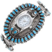 Old Pawn Sleeping Beauty Turquoise Watch 38904