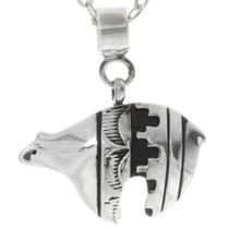 Sterling Silver Navajo Bear Pendant  38096