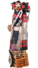 Three Part Kachina Doll 3 in 1 Blue Corn Maiden Mana Kachina Mother 39103