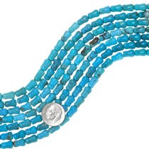 Dog Bone Shape Real Turquoise Beads 35595