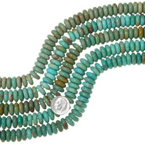 Large Green Turquoise Rondelle Beads 35598