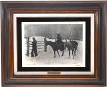 Vintage Frederic Remington Framed Etchings 1 of 2 39122