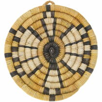 Vintage Hopi Polychrome Tray Basket 39123