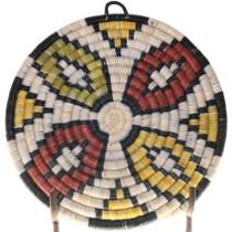 Hand Woven Hopi Basket Wall Plaque 39125