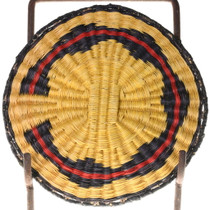 Vintage Native American Wedding Pattern Basket Tray 39126
