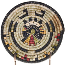 Native American Hand Woven Basket Tray 39128