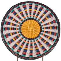 Hopi Corn Cob Design Polychrome Basket 39129