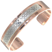 Mens Heavy Gauge Copper Silver Cuff 39130