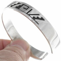 Navajo Pueblo Silver Bracelet 39132