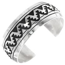 Navajo Sterling Silver Cuff Bracelet 39138