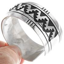 Native American Sterling Silver Overlay Bracelet 39138
