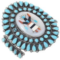 Old Pawn Apache Crown Dancer Turquoise Bracelet 39139