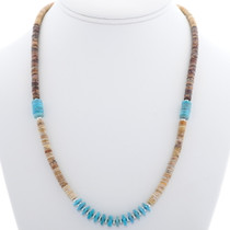 Turquoise Shell Navajo Heishi Necklace 29352
