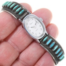 Zuni Needlepoint Turquoise Watch Bracelet 39140