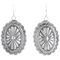 Navajo Silver Concho Earrings 39143