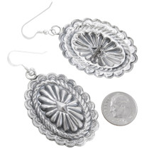 Silver Concho Dangle Earrings 39143