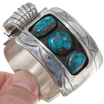 Turquoise Silver Watch Cuff Ladies 39145