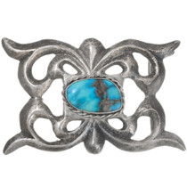 Old Pawn Turquoise Silver Belt Buckle 39147