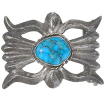 Old Pawn Ithaca Peak Turquoise Belt Buckle 39148