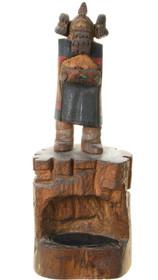 Vintage Hopi Hemis Mana Kachina Doll Over Agate Pond 39149