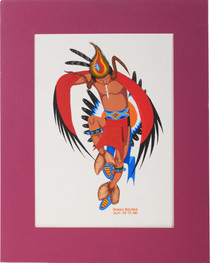 Vintage Kiowa Eagle Dancer Painting 39150