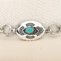 Turquoise Sterling Link Hatband 39153