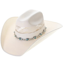 Turquoise Sterling Link Hatband Liz Taylor Style 39153
