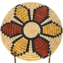Hand Coiled Native American Basket Tray 39155