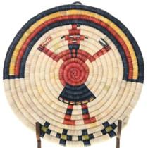 Mudhead Kachina Hopi Wall Tray Basket 39157