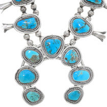 Vintage Kingman Turquoise Navajo Necklace 39163
