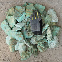 Big Turquoise Nuggets Specimen Aqua Green One Pound 37002