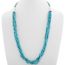 Natural Turquoise Navajo Necklace 39165