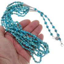 Five Strand Turquoise Nugget Necklace 33582